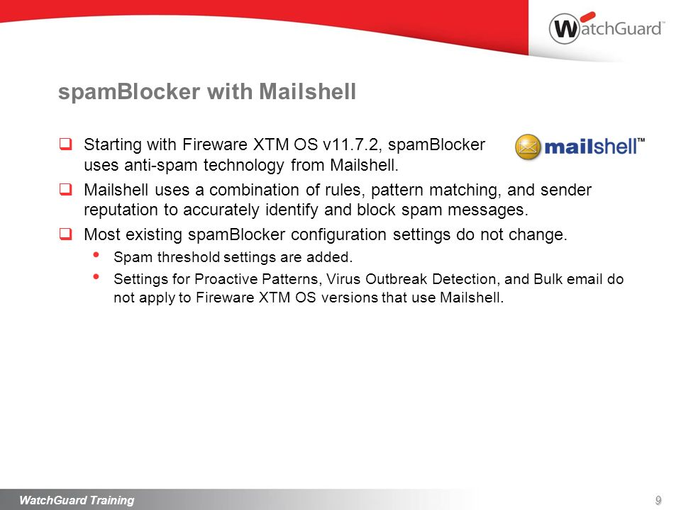 spamBlocker with Mailshell