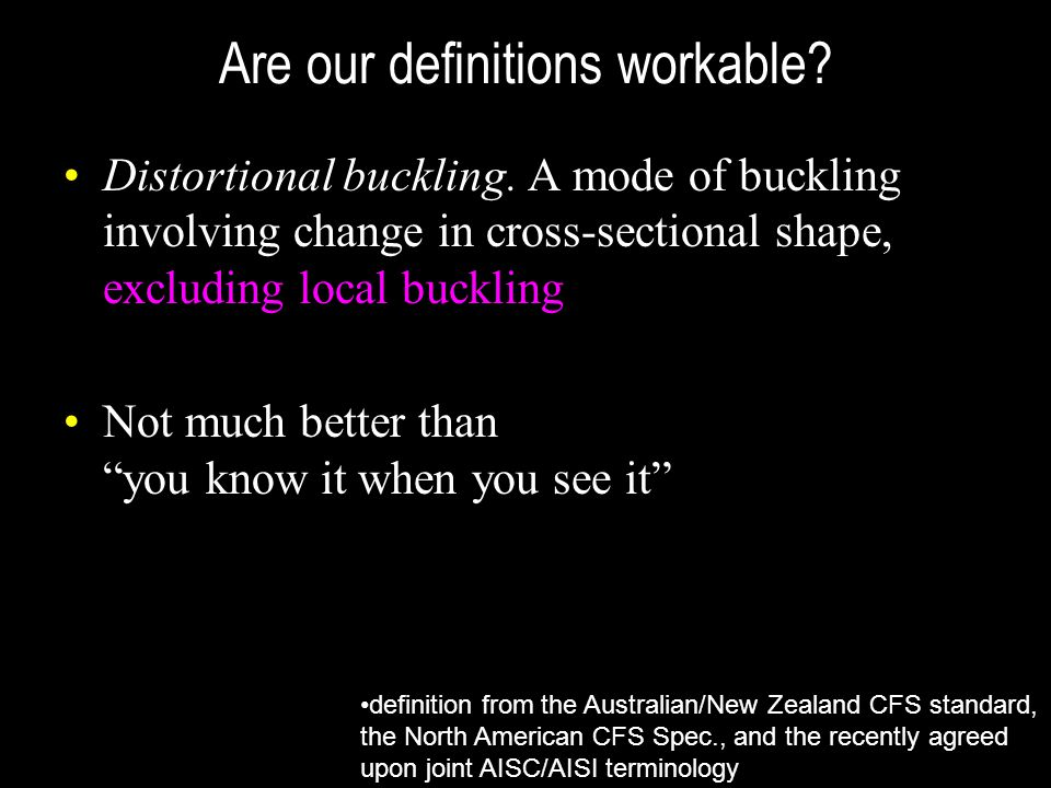 Are our definitions workable
