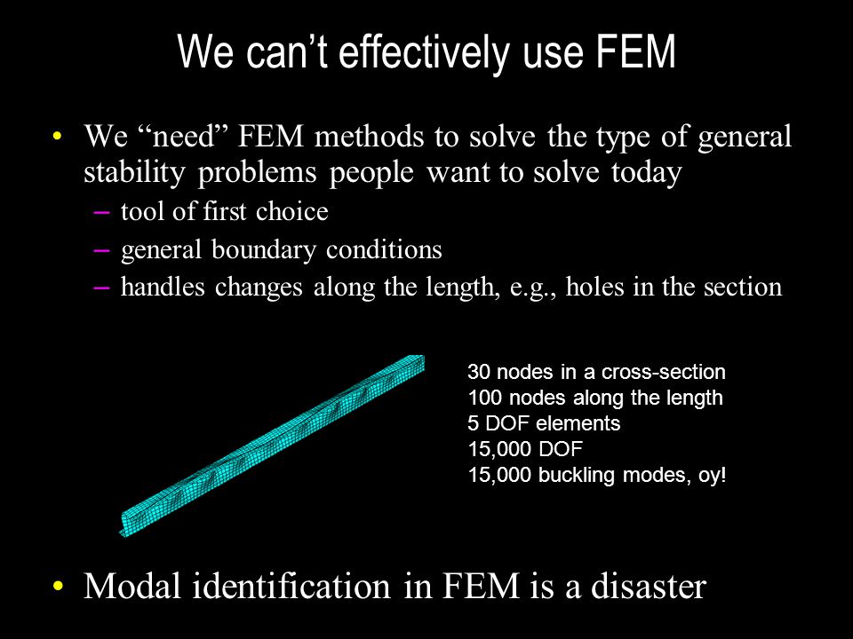 We can't effectively use FEM