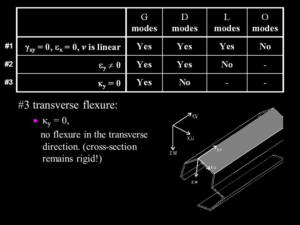 #3 transverse flexure: ky = 0,