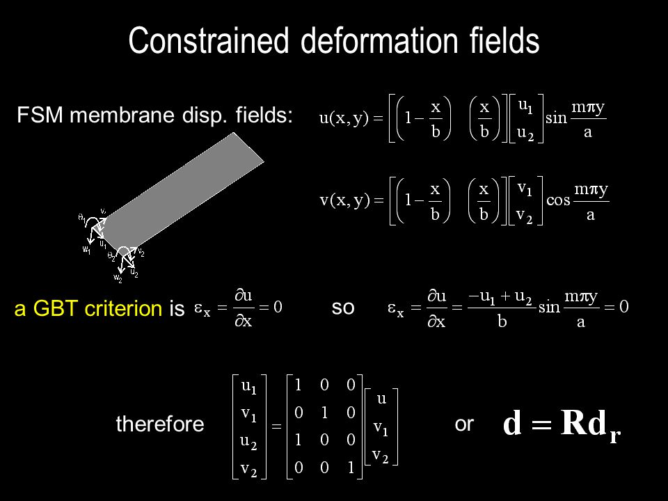 Constrained deformation fields