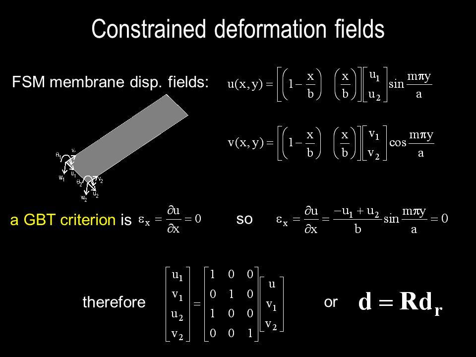 Constrained deformation fields