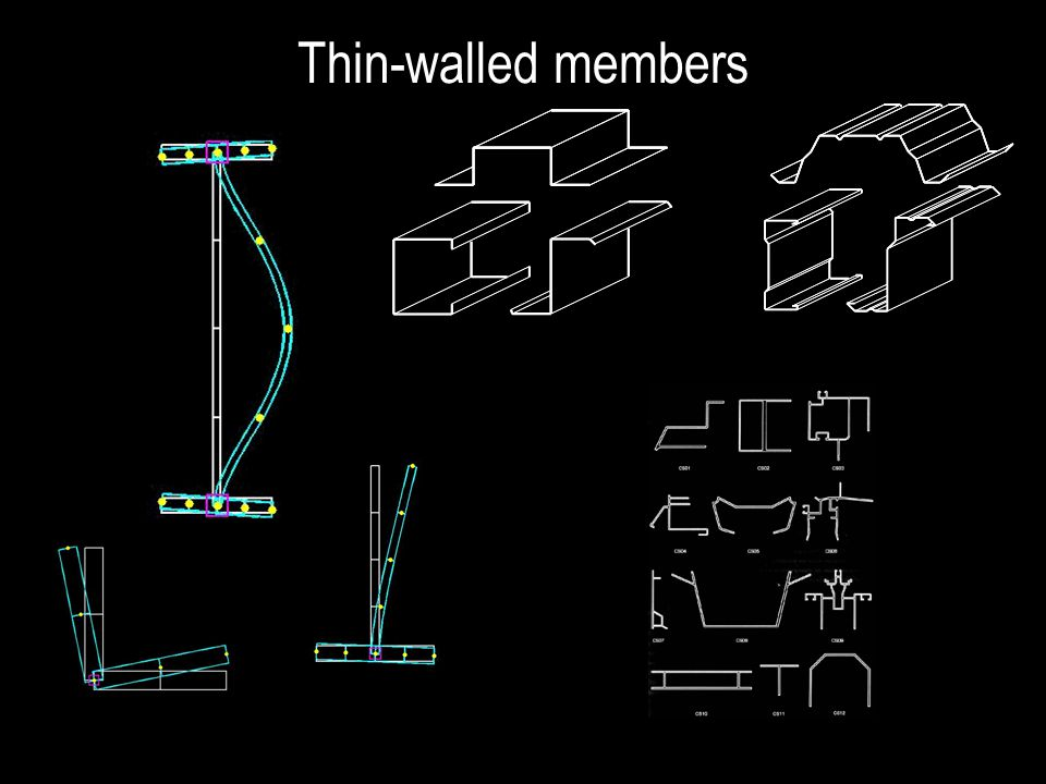 Thin-walled members