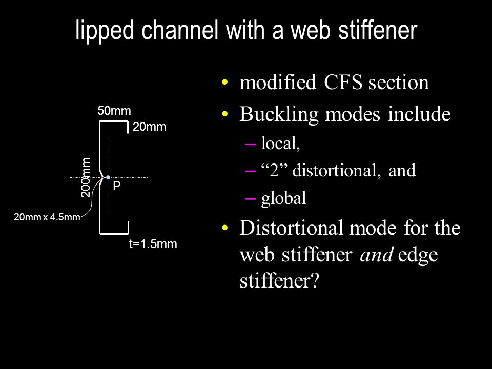 lipped channel with a web stiffener