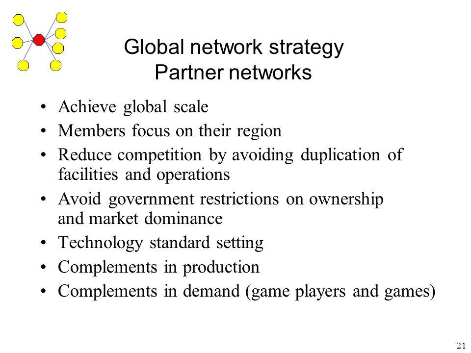 Global network strategy Partner networks