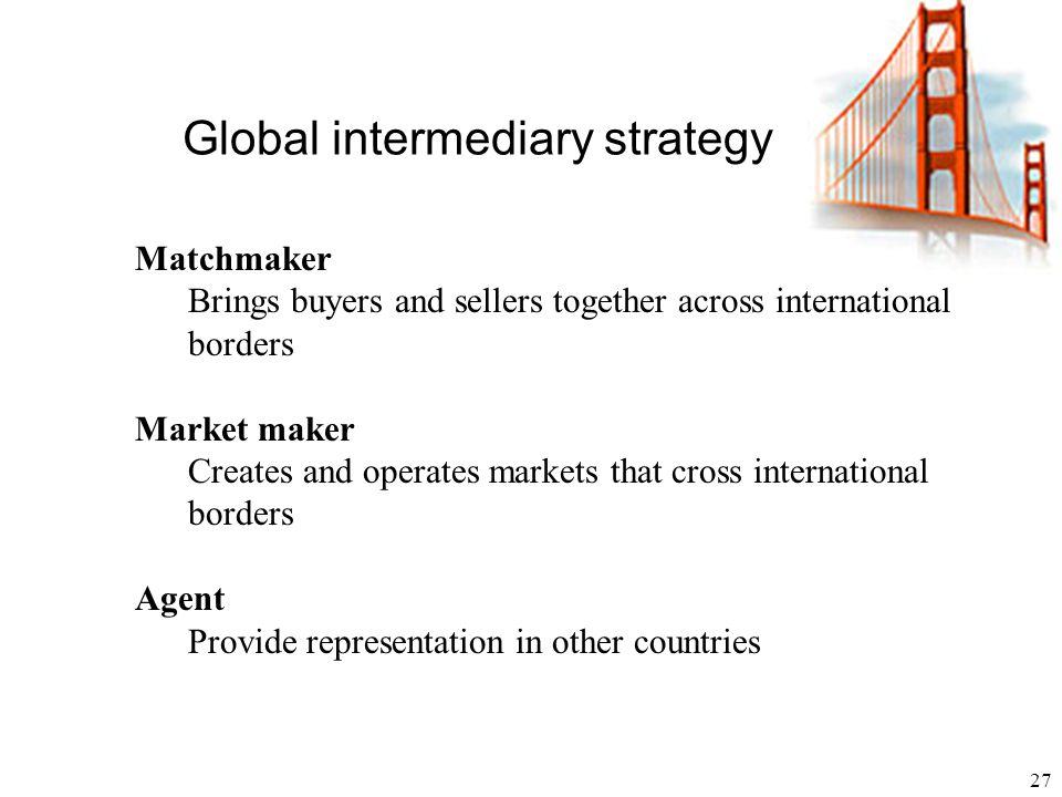 Global intermediary strategy