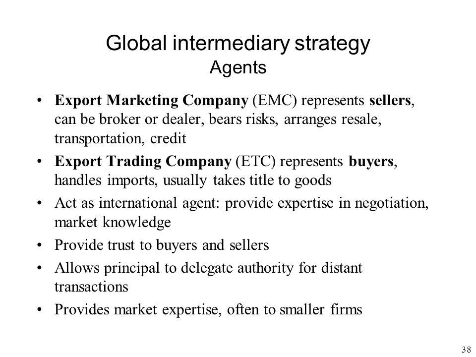 Global intermediary strategy Agents