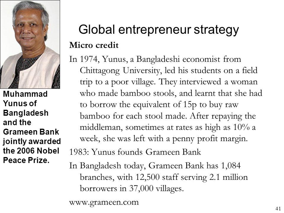 Global entrepreneur strategy