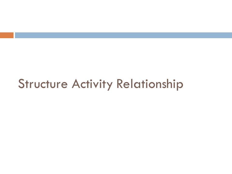 Structure Activity Relationship