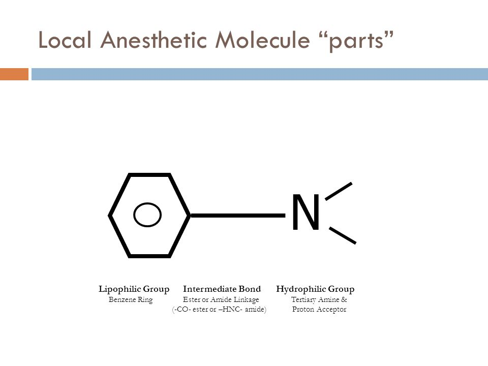 Local Anesthetic Molecule parts