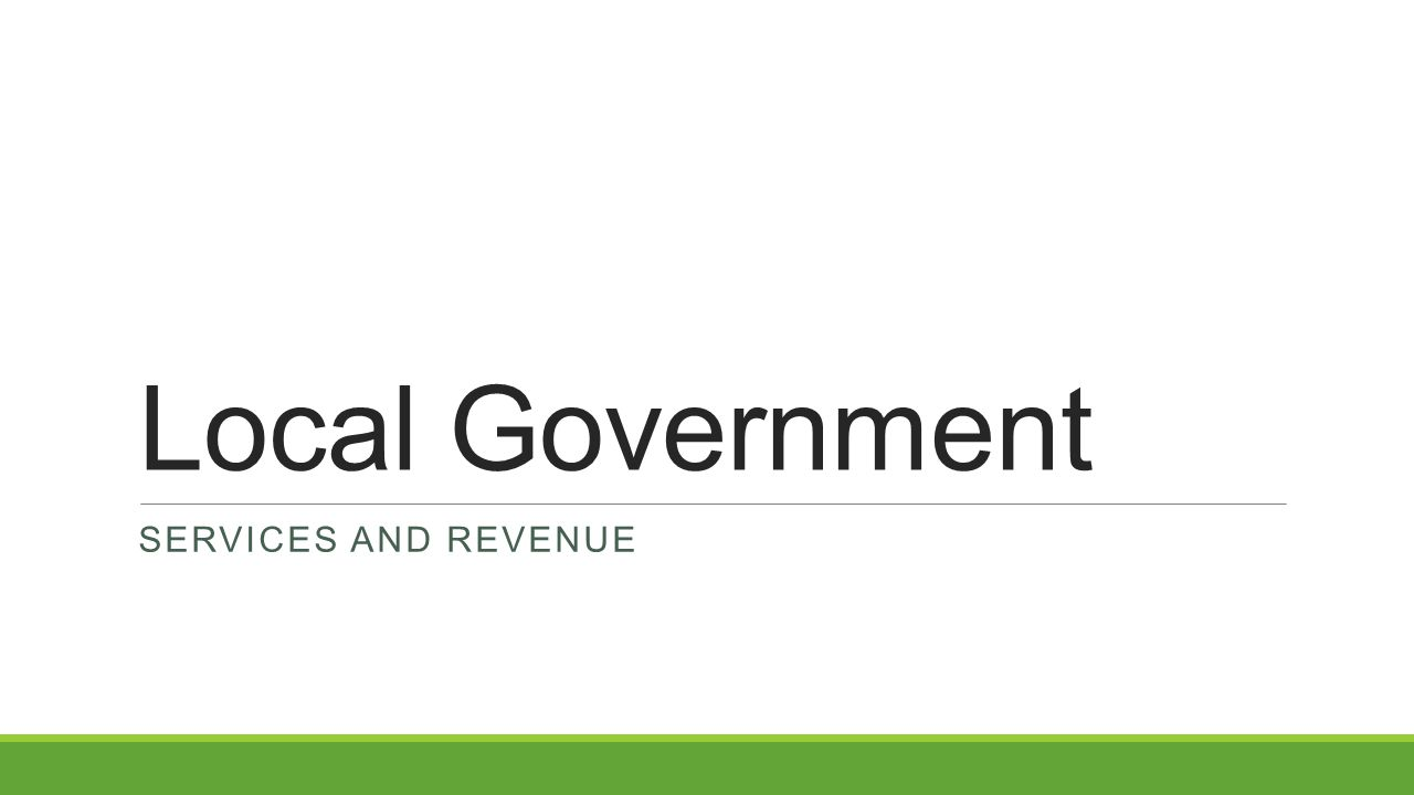 Local Government Services and revenue