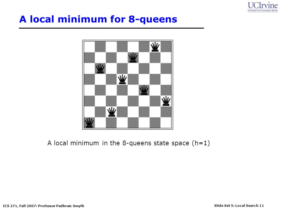 A local minimum for 8-queens