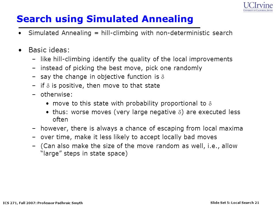 Search using Simulated Annealing