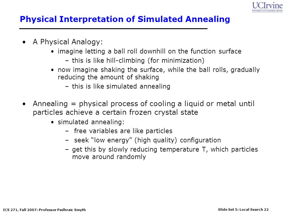 Physical Interpretation of Simulated Annealing