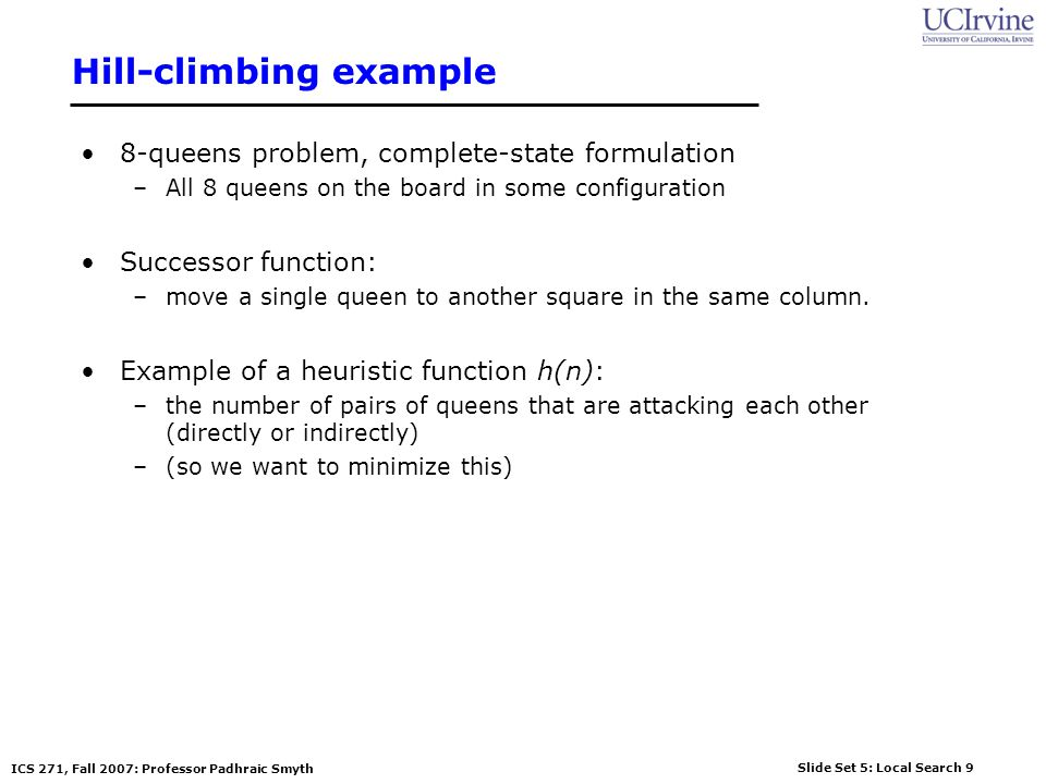 Hill-climbing example