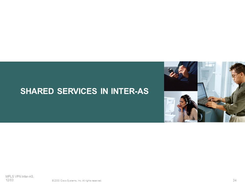 SHARED SERVICES IN INTER-AS