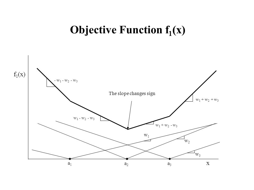 Objective Function f1(x)