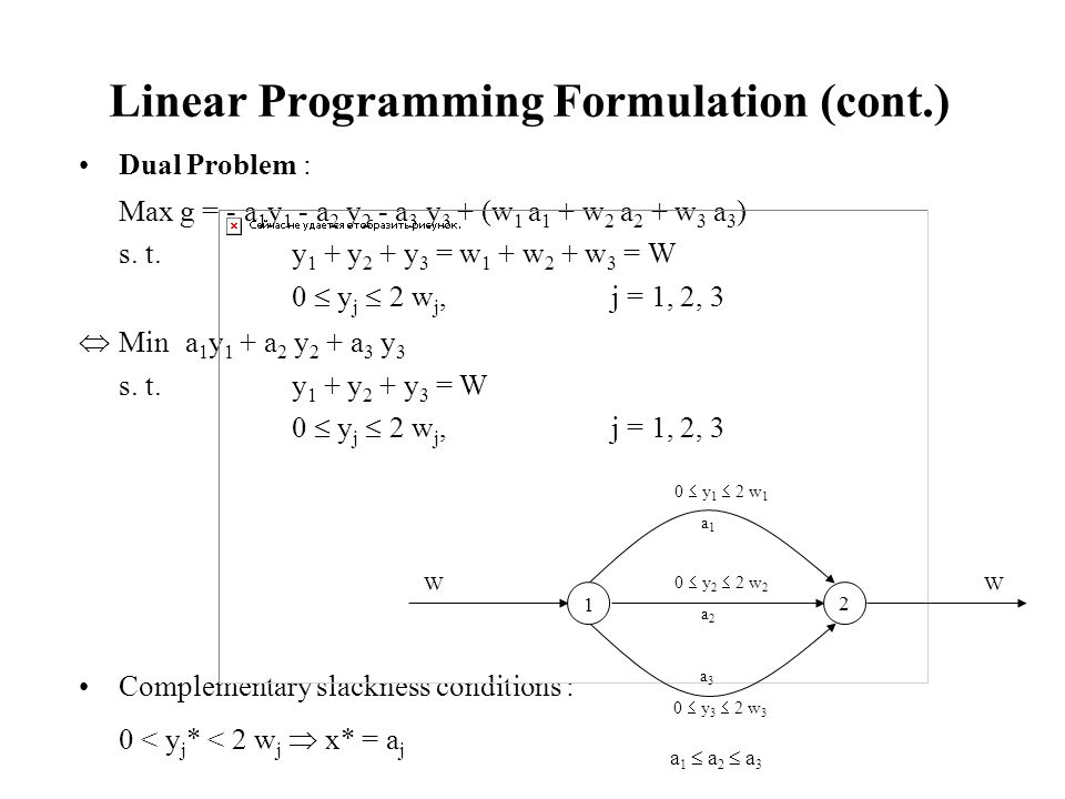 Linear Programming Formulation (cont.)