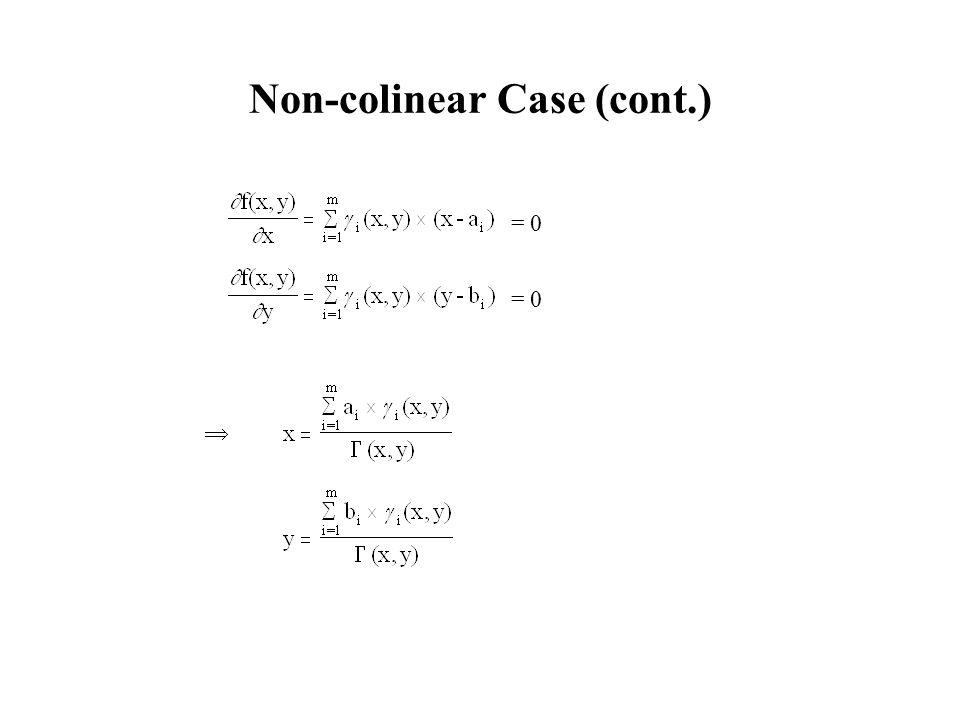 Non-colinear Case (cont.)