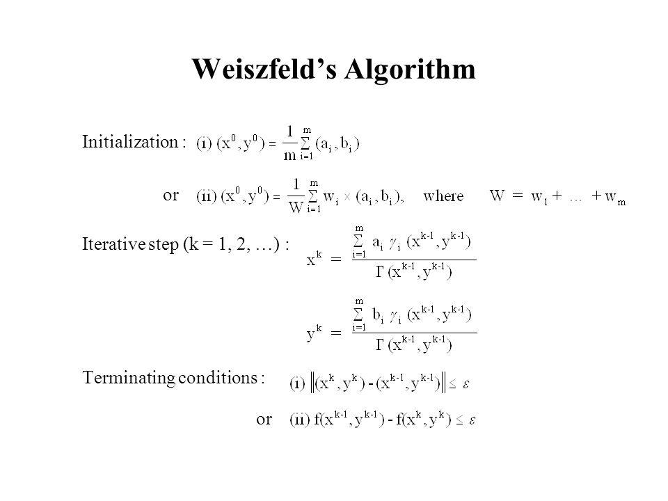 Weiszfeld's Algorithm