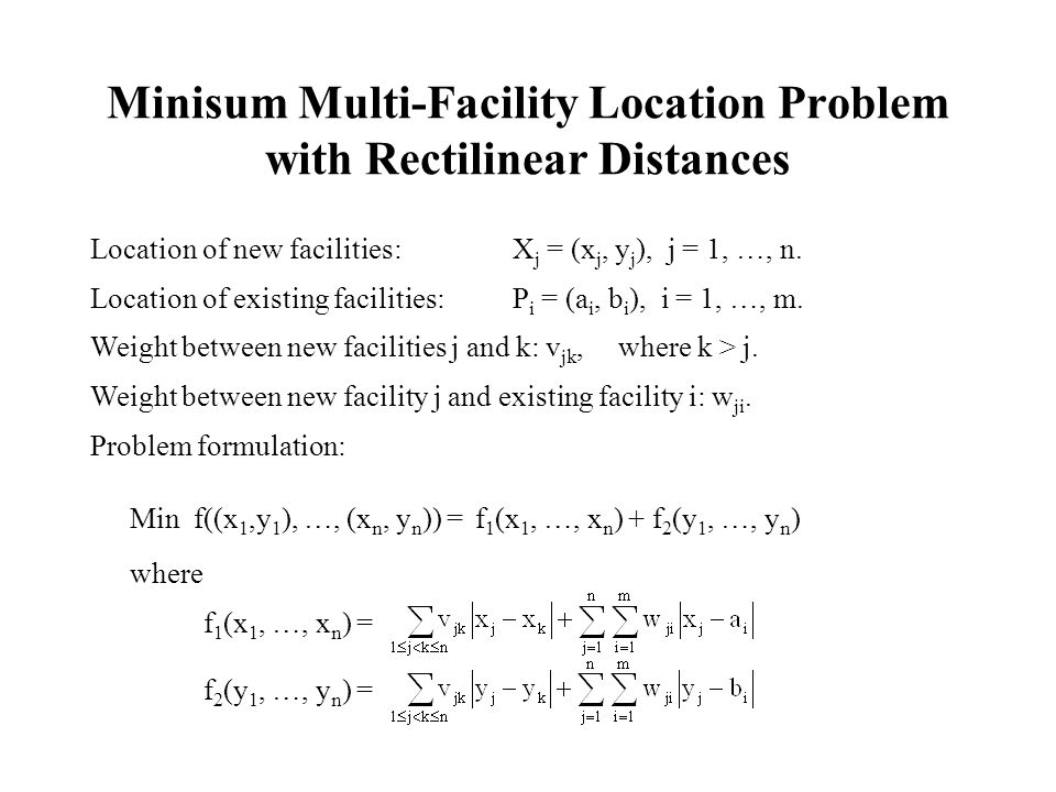 Minisum Multi-Facility Location Problem with Rectilinear Distances