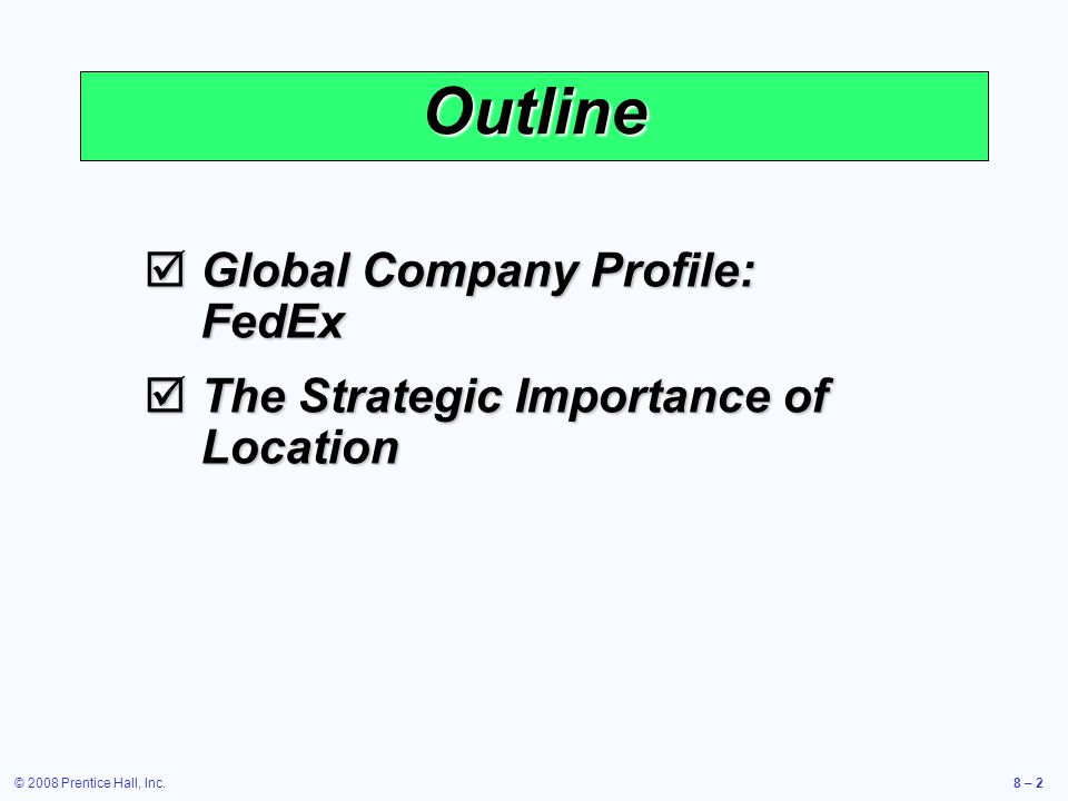Outline Global Company Profile: FedEx