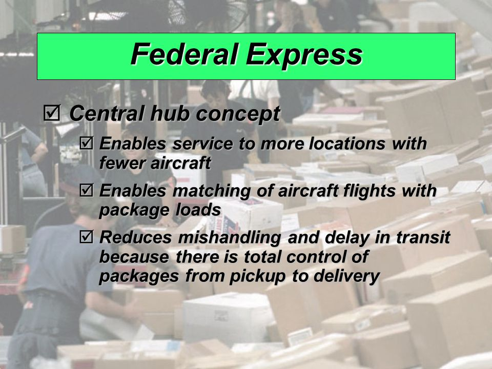 Federal Express Central hub concept