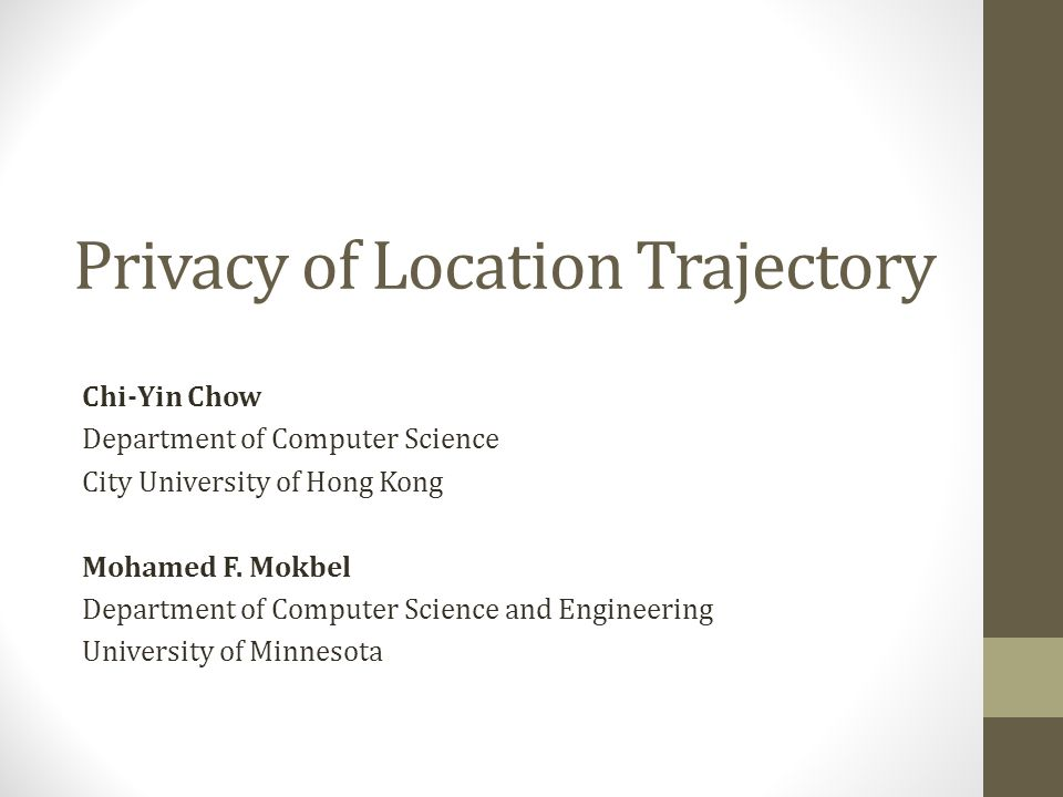 Privacy of Location Trajectory