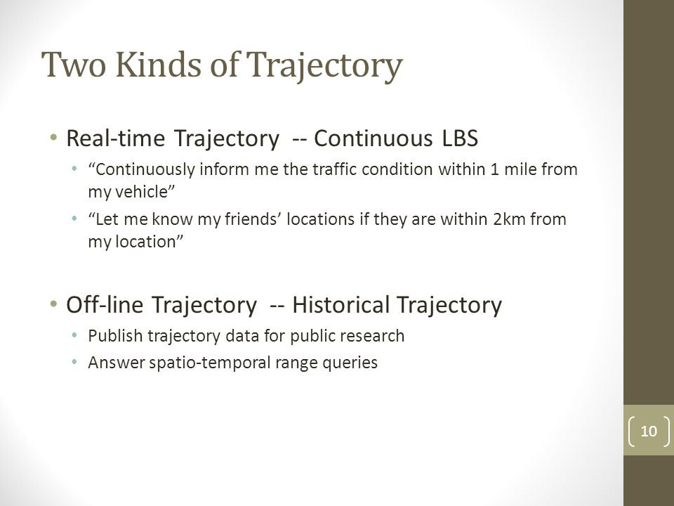 Two Kinds of Trajectory