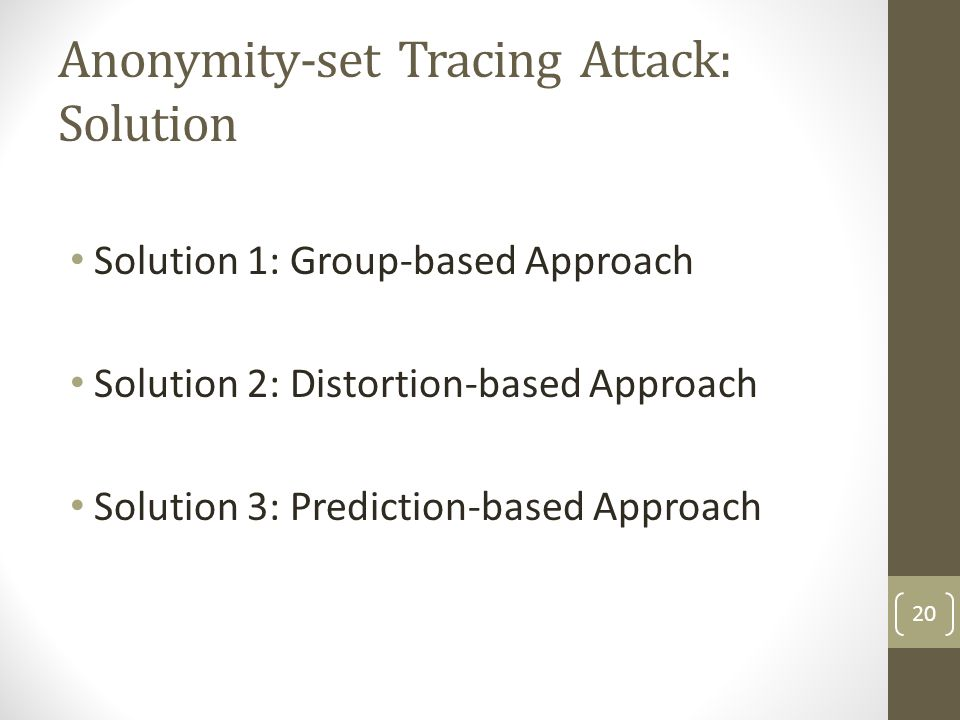 Anonymity-set Tracing Attack: Solution