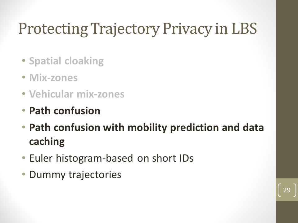 Protecting Trajectory Privacy in LBS