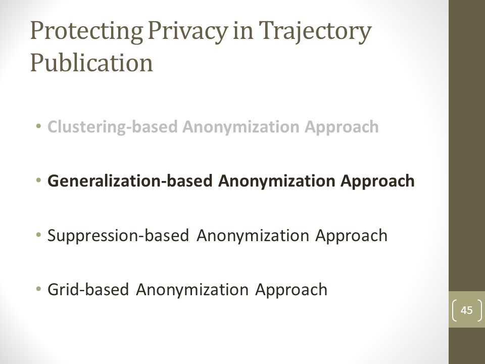 Protecting Privacy in Trajectory Publication