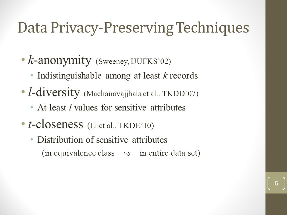 Data Privacy-Preserving Techniques
