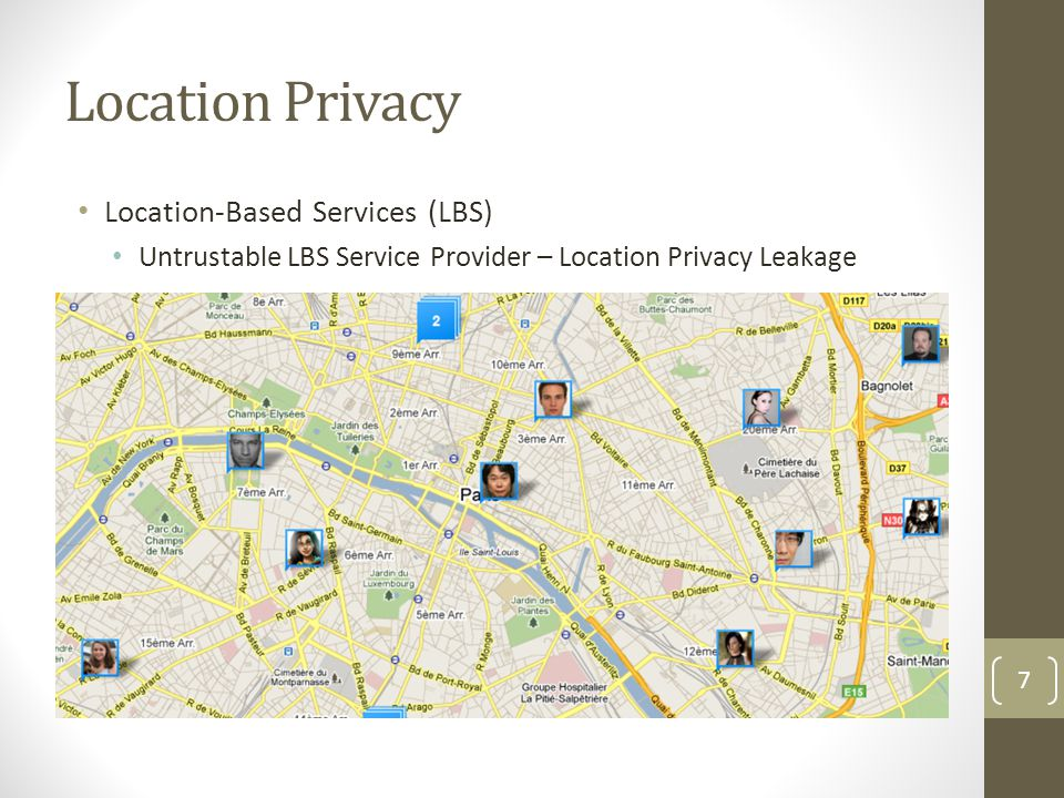 Location Privacy Location-Based Services (LBS)