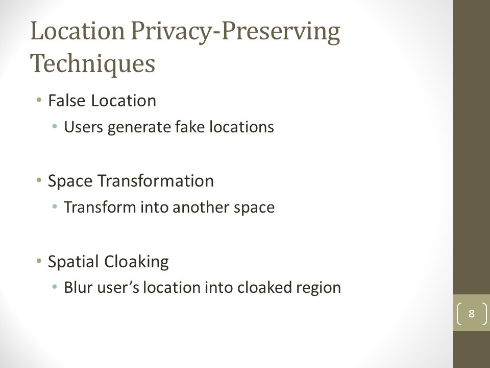 Location Privacy-Preserving Techniques
