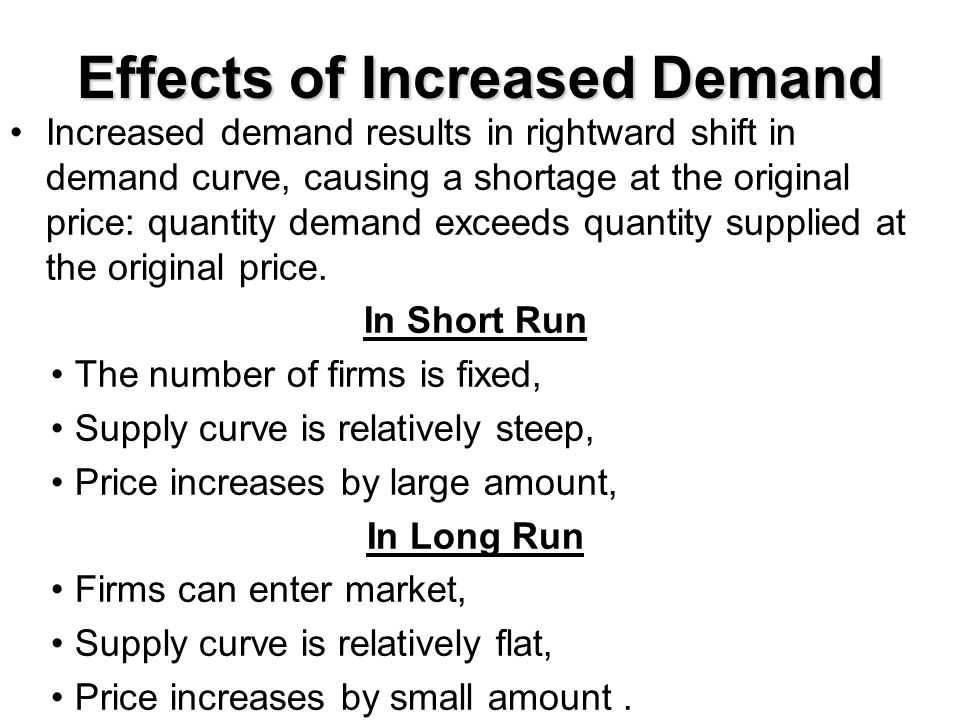 Effects of Increased Demand