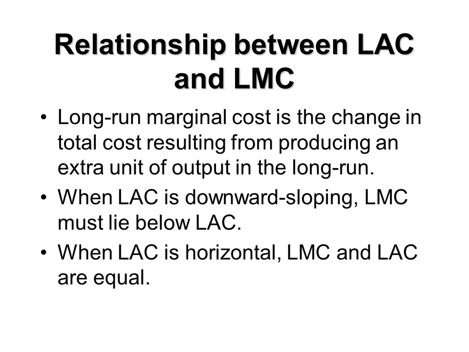 Relationship between LAC and LMC