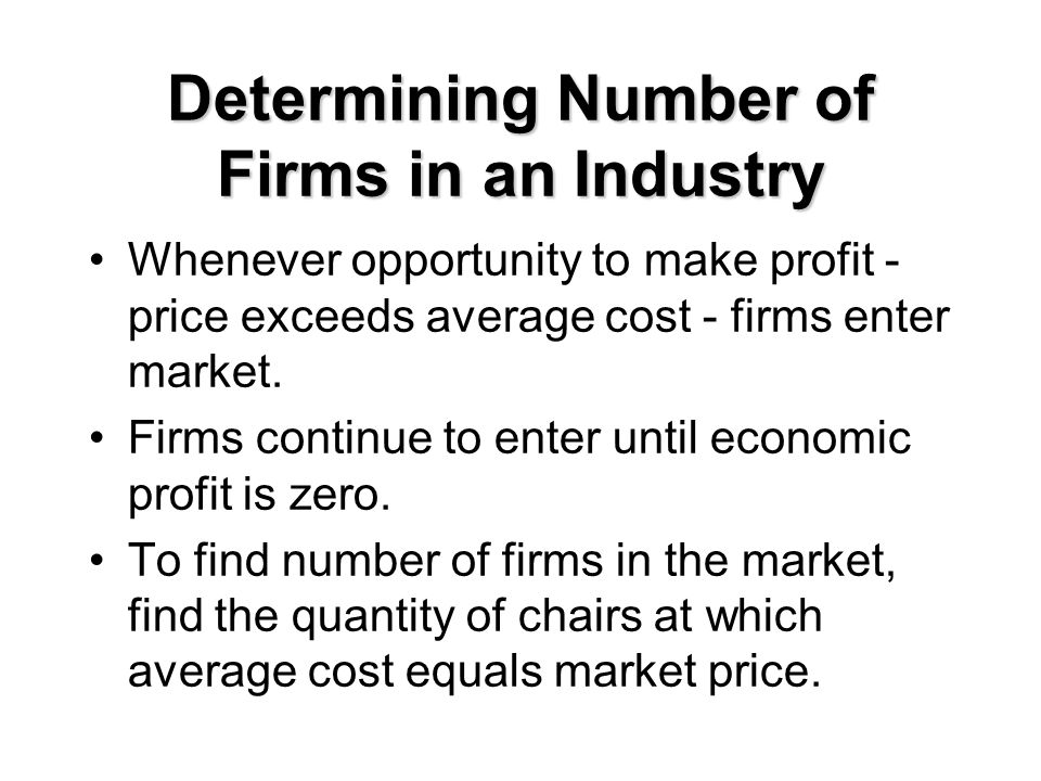 Determining Number of Firms in an Industry