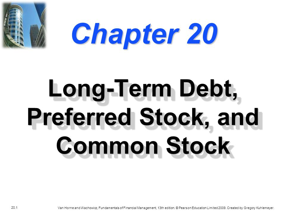Long-Term Debt, Preferred Stock, and Common Stock