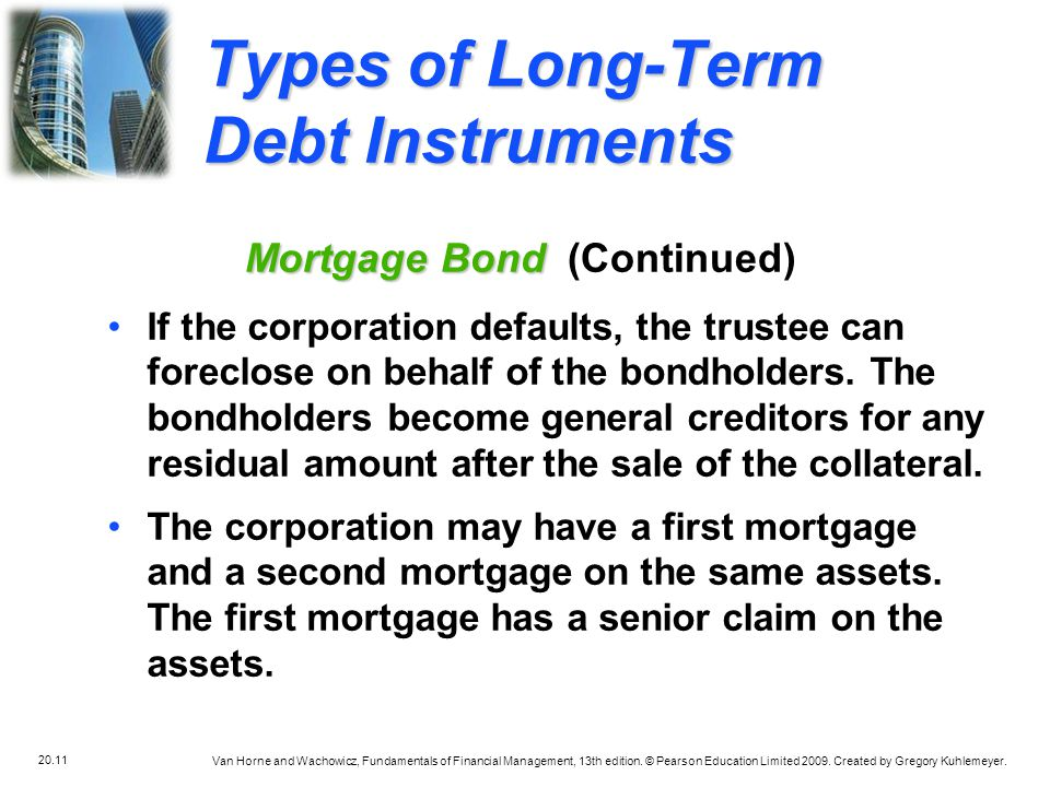 Types of Long-Term Debt Instruments