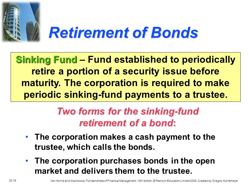 Two forms for the sinking-fund
