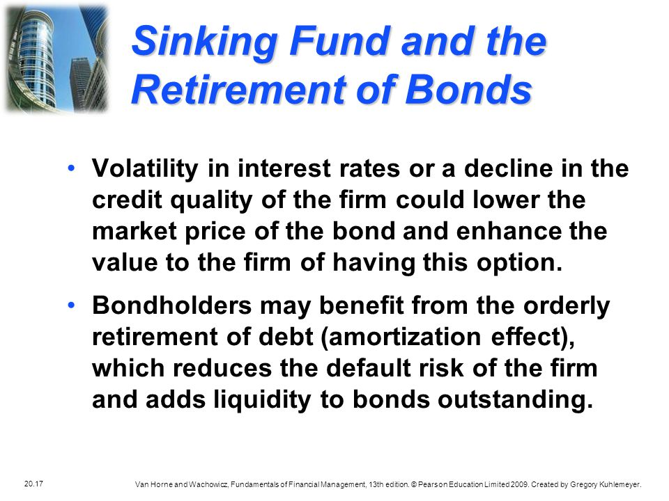 Sinking Fund and the Retirement of Bonds