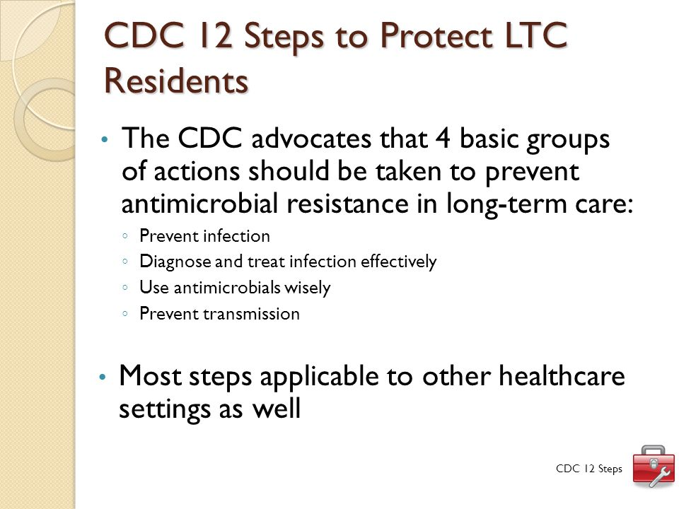 CDC 12 Steps to Protect LTC Residents
