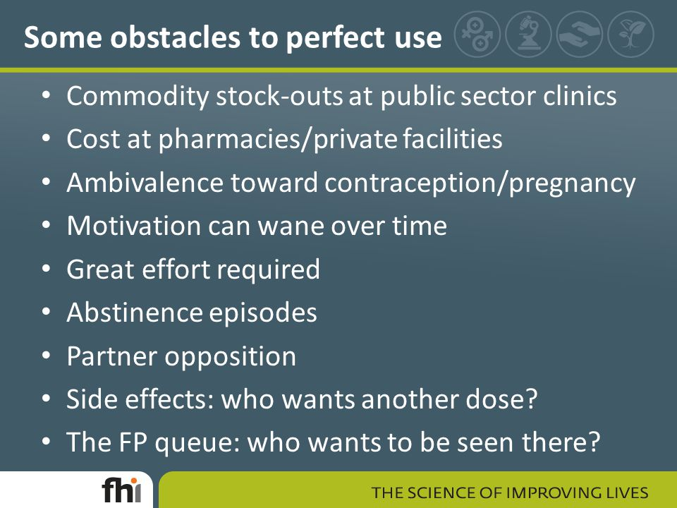 Some obstacles to perfect use