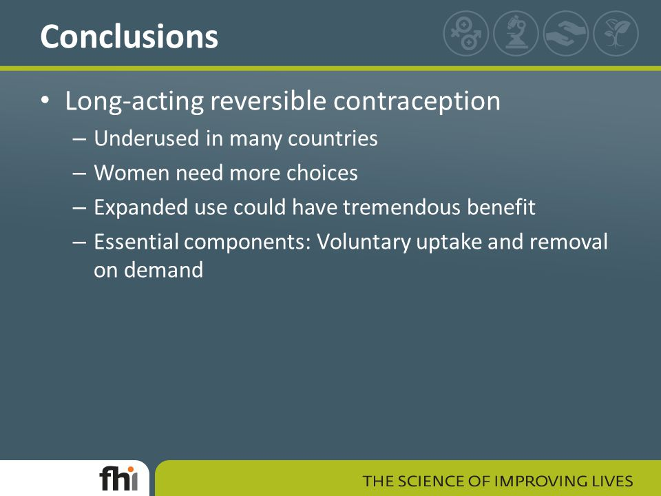 Conclusions Long-acting reversible contraception