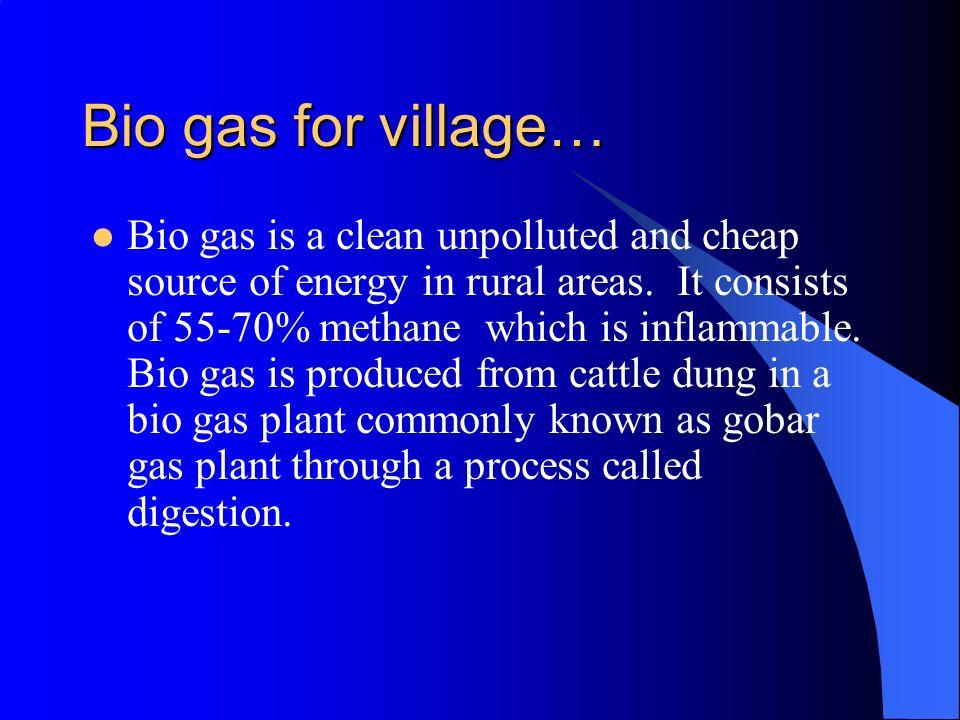 Bio gas for village…