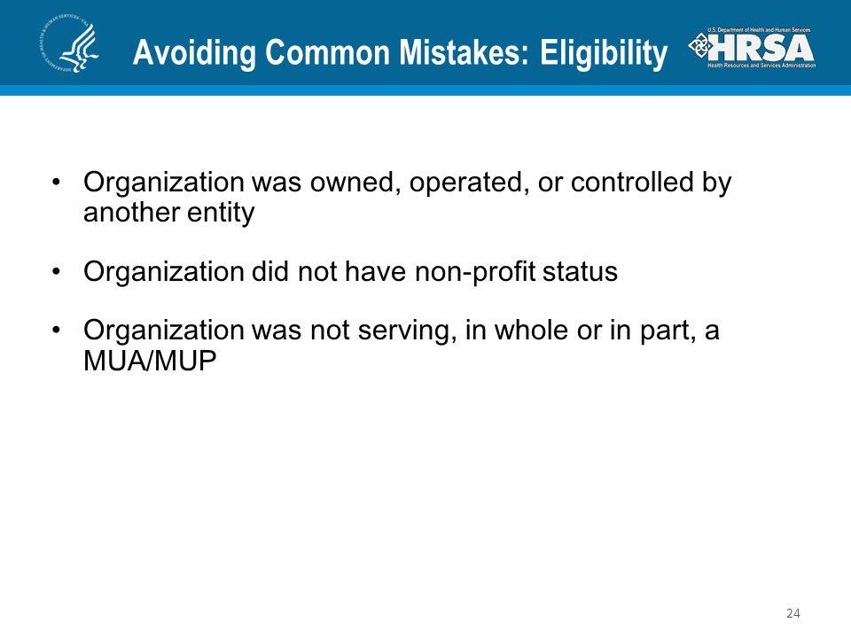 Avoiding Common Mistakes: Eligibility