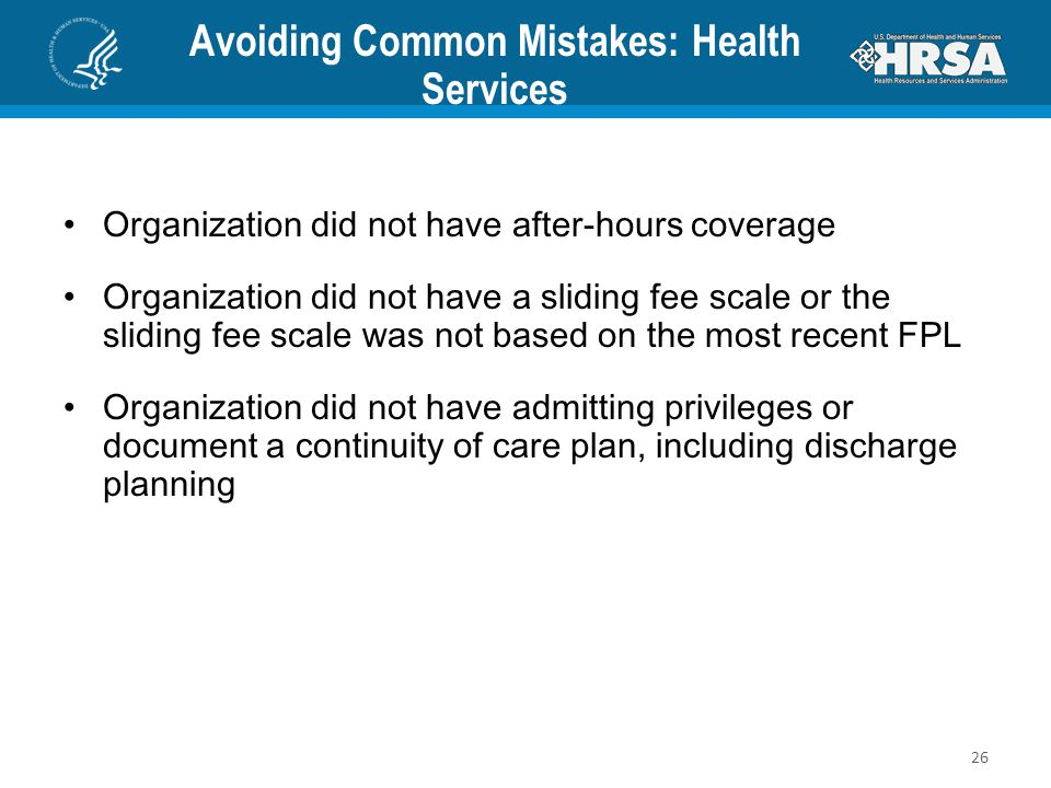 Avoiding Common Mistakes: Health Services