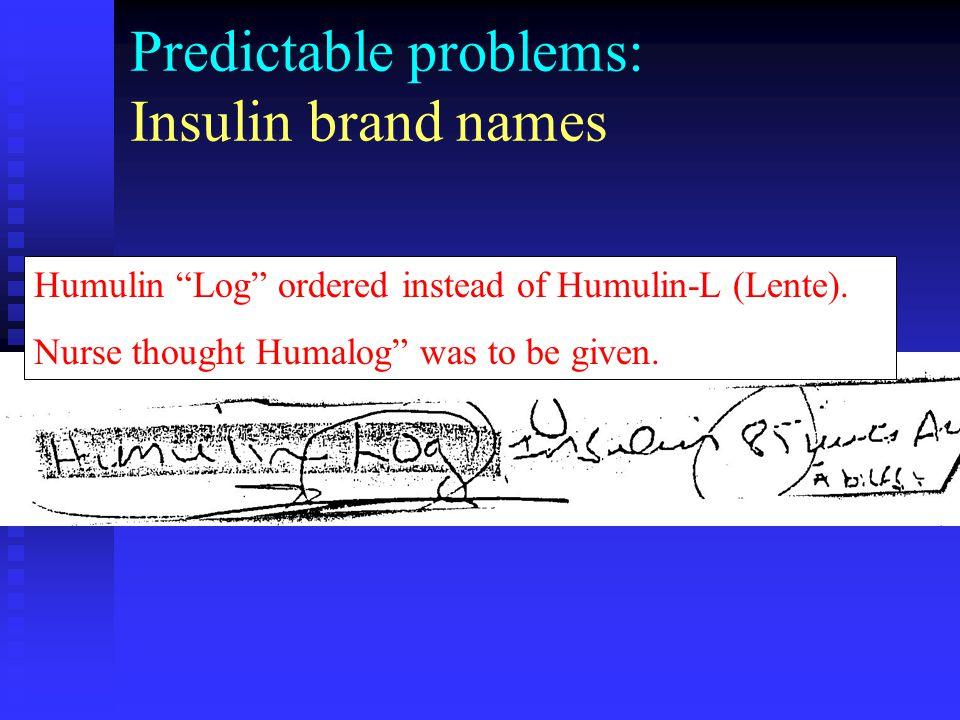 Predictable problems: Insulin brand names