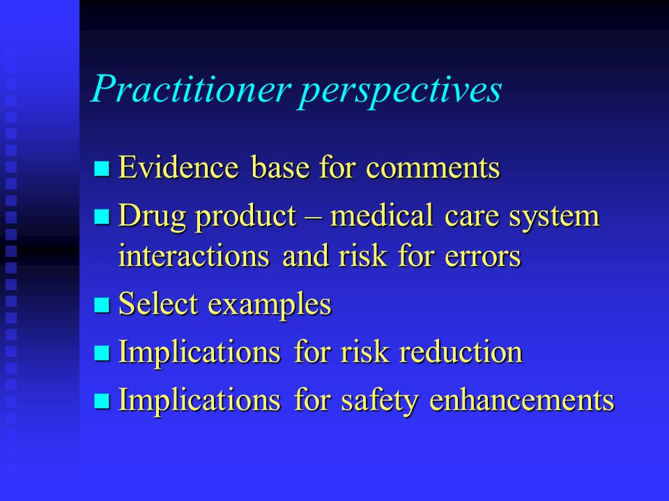 Practitioner perspectives